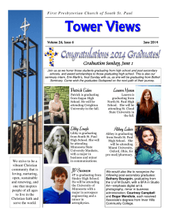 Tower Views June 2014 - First Presbyterian Church