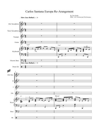 Carlos Santana Europa Re-Arrangement - Thomas Eric Smith