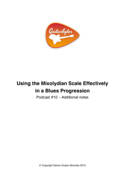 Using the Mixolydian Scale Effectively in a Blues Progression