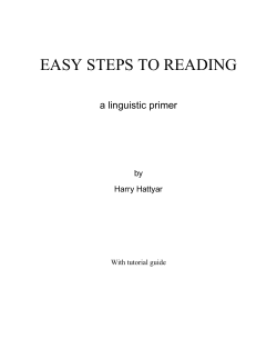 EASY STEPS TO READING - Don Potter.net Wide Interest Website