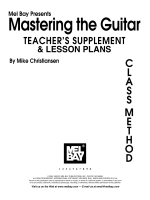 LESSON PLANS - Mel Bay