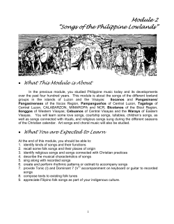 "Module 2 ""Songs of the Philippine Lowlands"""