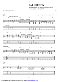 Complete Transcription To Bat Country - Guitar Alliance