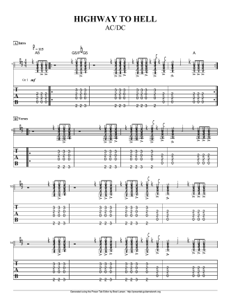 AC DC-Highway To Hell - Chicago Guitar Lessons.