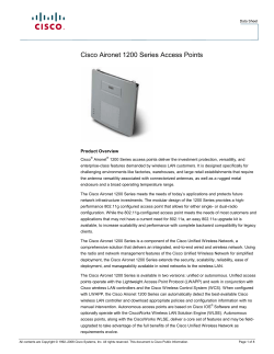 Cisco Aironet 1200 Series Access Points