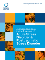 The Australian Guidelines for the Treatment of Acute Stress Disorder