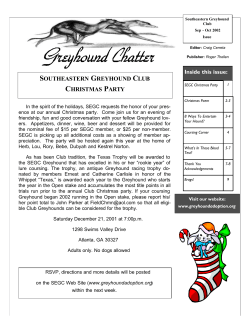 SEGC Newsletter5 - Southeastern Greyhound Club