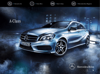 A‑Class price list - Mercedes-Benz UK