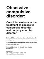 CG31 Obsessive-compulsive disorder: full guideline - Nice
