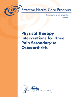 CER 77: Physical Therapy Interventions for Knee Pain Secondary to