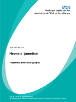 CG98 Neonatal jaundice: treatment threshold graphs - Nice