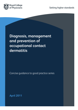 Occupational contact dermatitis concise guideline - Royal College of