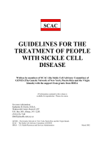 guidelines for the treatment of people with sickle cell disease