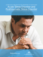 Australian Guidelines for the Treatment of Adults with Acute Stress