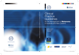 Clinical Practice Guidelines for the Management of Melanoma