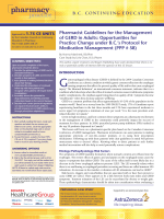 Pharmacist Guidelines for the Management of GERD in Adults
