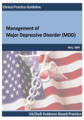 Management of Major Depressive Disorder (MDD) - VA/DoD Clinical