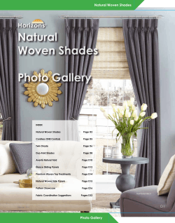 Natural Woven Shades Photo Gallery - Horizons Window Fashions