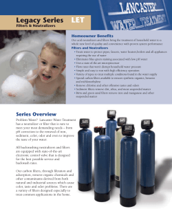 Acid Neutralizers - Lancaster Pumps - Water Treatment