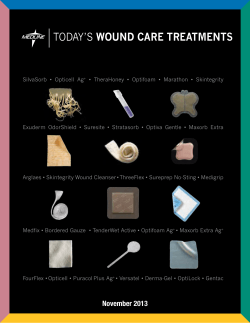 TODAYS WOUND CARE TREATMENTS - Medline Industries, Inc.