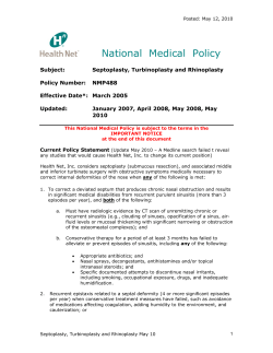 National Medical Policy - Health Net