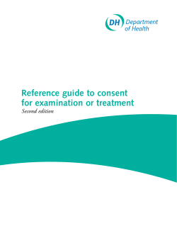 Reference guide to consent for examination or treatment