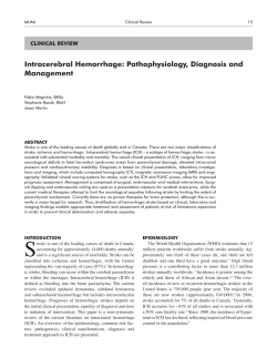 Intracerebral Hemorrhage: Pathophysiology, Diagnosis and