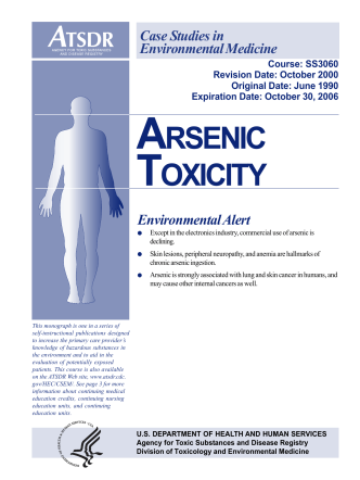 CSEM - Arsenic Toxicity - ATSDR - Centers for Disease Control and