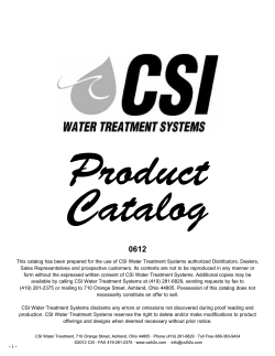 features - CSI Water Treatment