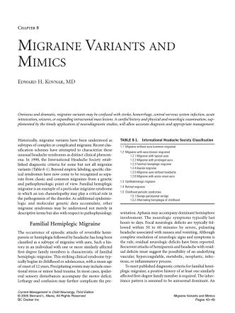 08. Migraine Variants and Mimics