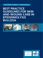 Best practice Guidelines for skin and wound care in epidermolysis