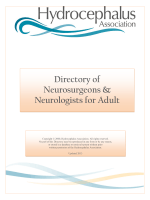 Directory of Neurosurgeons Neurologists for Adult Hydrocephalus