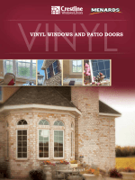 vinyl windows and patio doors - Crestline Windows