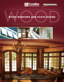 wood windows and patio doors - Crestline Windows