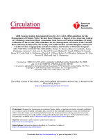 Practice Guideline 2008 Focused Update Incorporated - Circulation