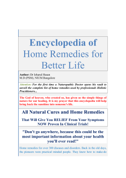 Encyclopedia of home remedies for better life - Academic eBook