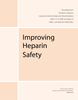 Improving Heparin Safety - CareFusion