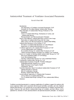 Antimicrobial Treatment of Ventilator-Associated - Respiratory Care