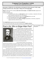 Poes Life- Who is Edgar Allan Poe? - Lee Elementary School