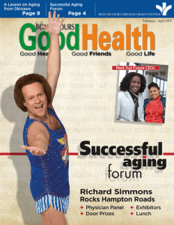 Richard Simmons - Bon Secours Senior Health