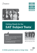 SAT Subject Tests™ - The College Board
