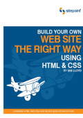 Build Your Own Web Site The Right Way Using HTML - Course Stuff