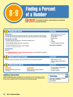 Lesson 8.9 Finding a Percent of a Number