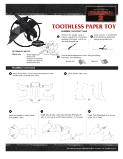 TOOTHLESS PAPER TOY - DreamWorks Animation