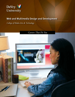 Web Media Design Development Careers Guide - DeVry University