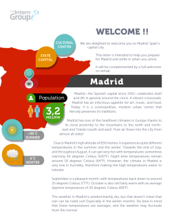 WELCOME !! Madrid - International Internships