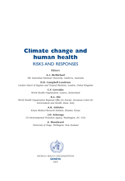 Climate change and human health - World Health Organization