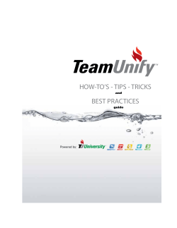 Team Unifys Complete User Guide for this Website
