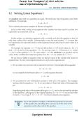 5.2 Solving Linear Equations I - Art of Problem Solving