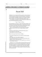 Problem-Solving Skills: Percent Yield